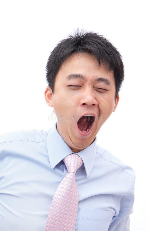 Überarbeitetes Geschäftsmanngegähne Mit Blauem Auge Lizenzfreies Stockbild