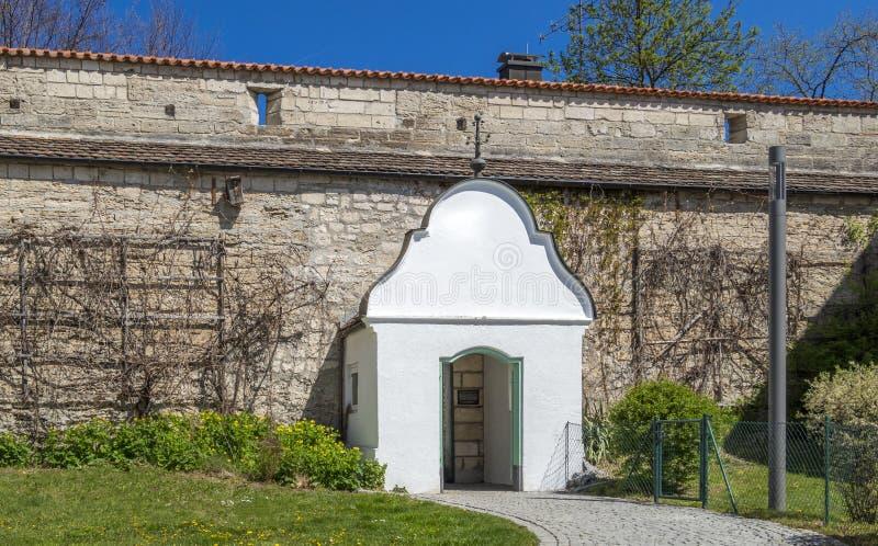 Ãœberbleibsel der Stadtmauer in Weilheim, Bayern, Deutschland lizenzfreies stockbild