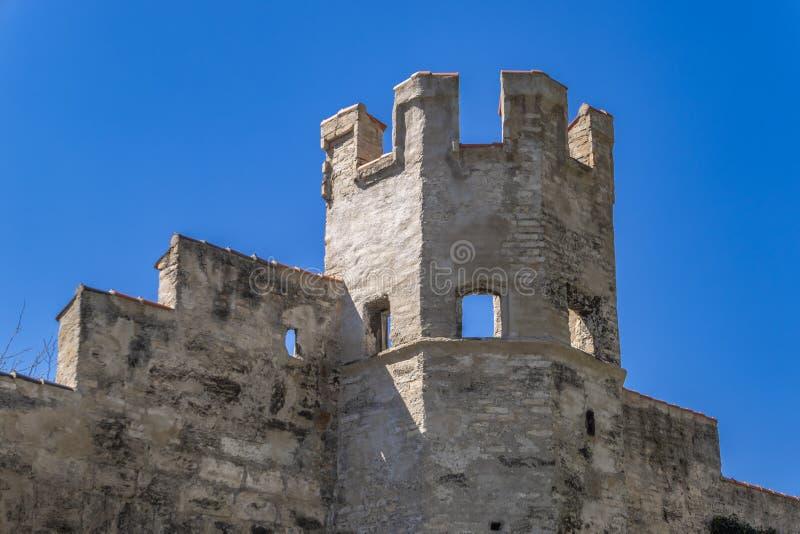 Ãœberbleibsel der Stadtmauer in Weilheim, Bayern, Deutschland stockfoto