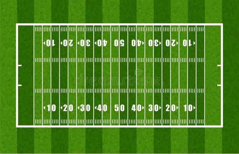 Überblick über amerikanischen Fußballplatz lizenzfreie abbildung
