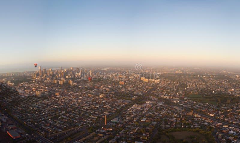 Überblick über Melbourne lizenzfreie stockfotografie