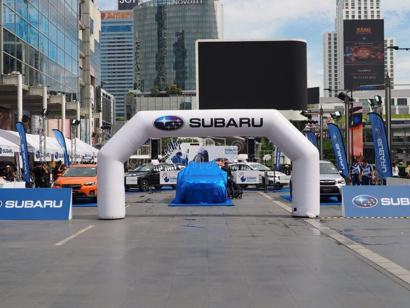 Überblick über Subaru-Palmen-Herausforderung 2018 lizenzfreie stockbilder