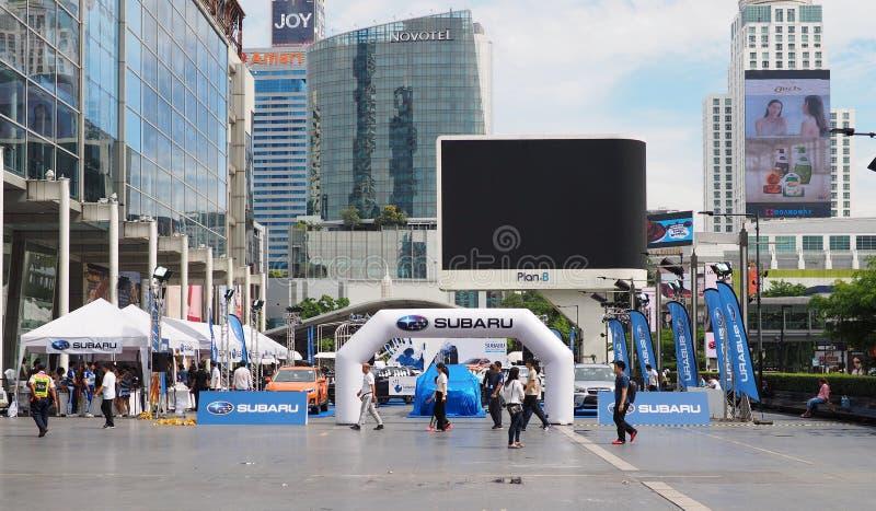 Überblick über Subaru-Palmen-Herausforderung 2018 lizenzfreie stockfotos