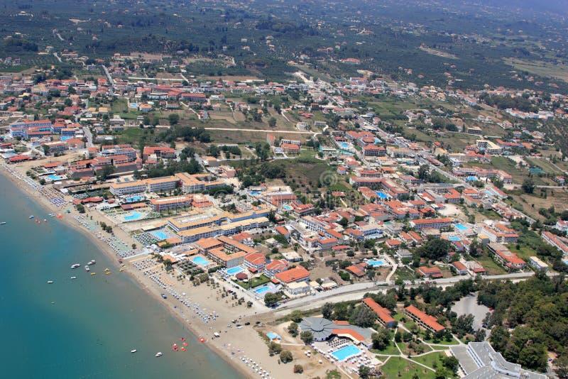 Überblick auf Zakynthos-Insel lizenzfreie stockfotos