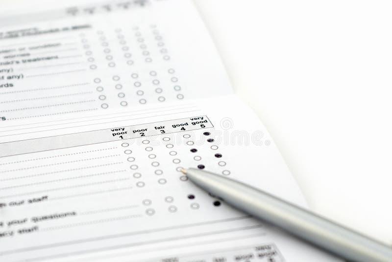 Überblicken Sie Formular stockbilder