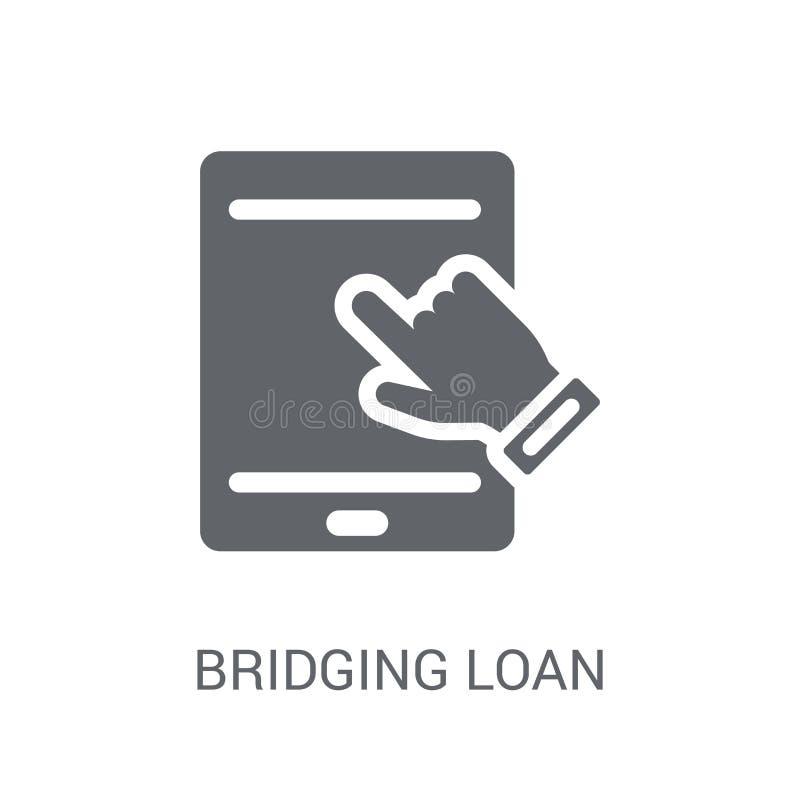 Überbrückungskreditikone  lizenzfreie abbildung