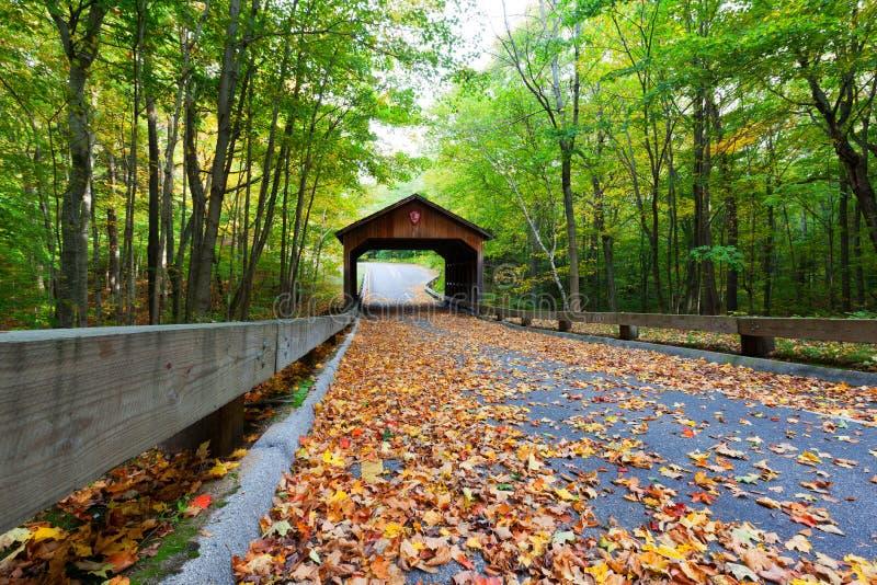 Überdachte Brücke auf Pierce Stocking Drive in den Schlafenbärn-Dünen stockfoto