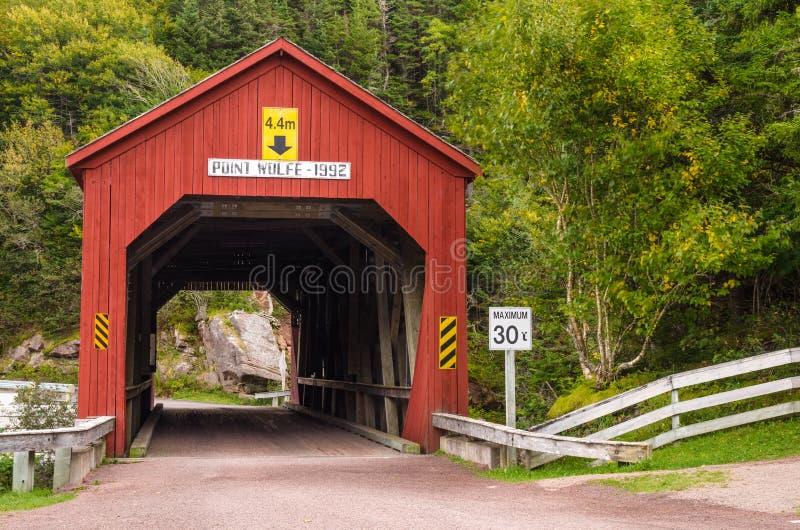 Überdachte Brücke in New-Brunswick stockfotografie