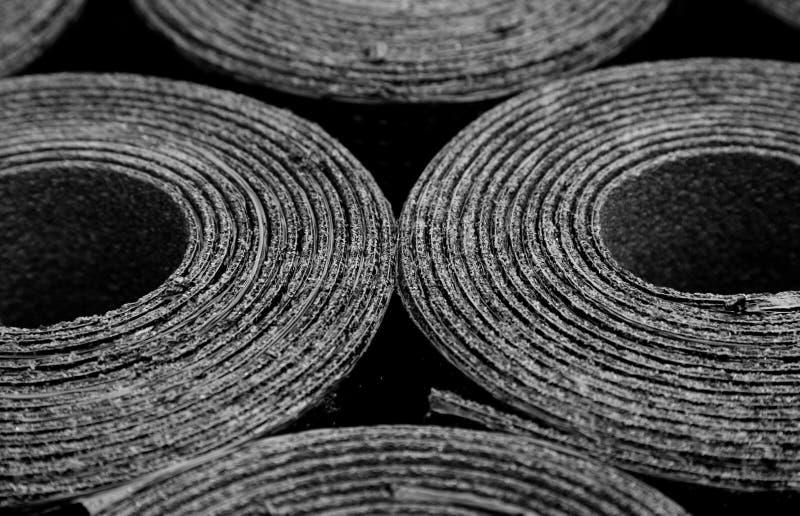 Überdachung des Filzes Rolls des Bitumens lizenzfreie stockbilder