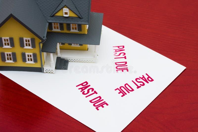 Überfällige Hypothek stockbild