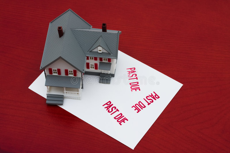 Überfällige Hypothek lizenzfreies stockbild