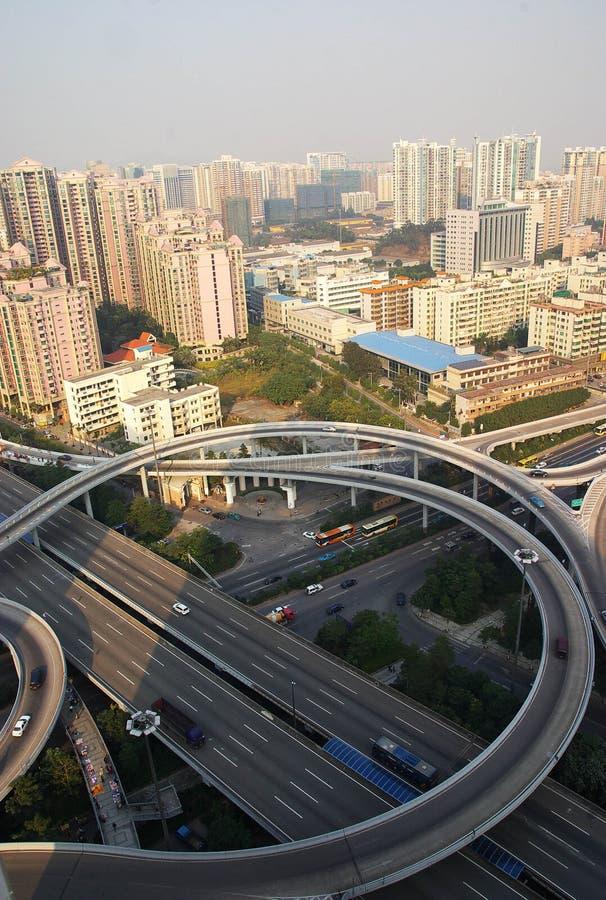 Überführung in der Guangzhou-Stadt stockbilder