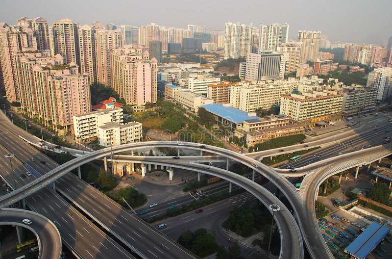 Überführung in der Guangzhou-Stadt lizenzfreie stockbilder