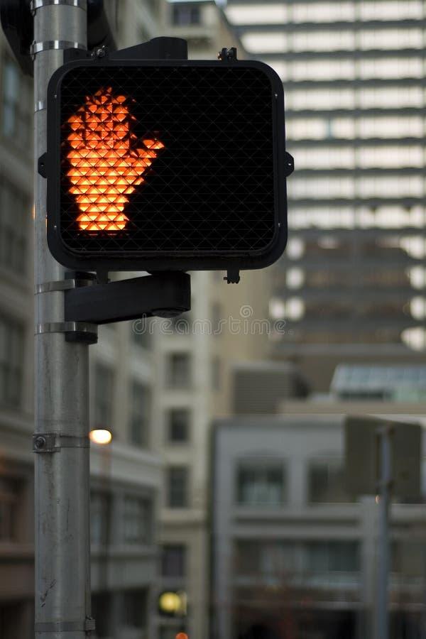 Überfahrt-Zeichen stockfoto