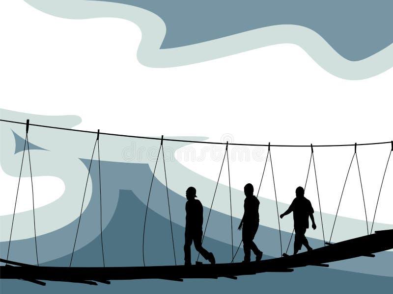 Überfahrtbrücke vektor abbildung