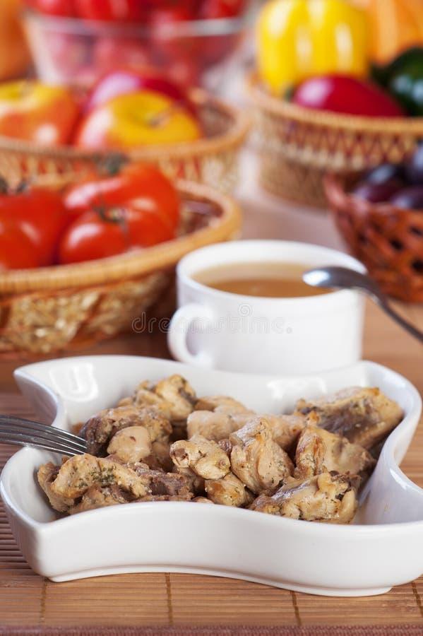 Überflussnahrungsmittelfleisch, Gemüse, lizenzfreie stockfotos