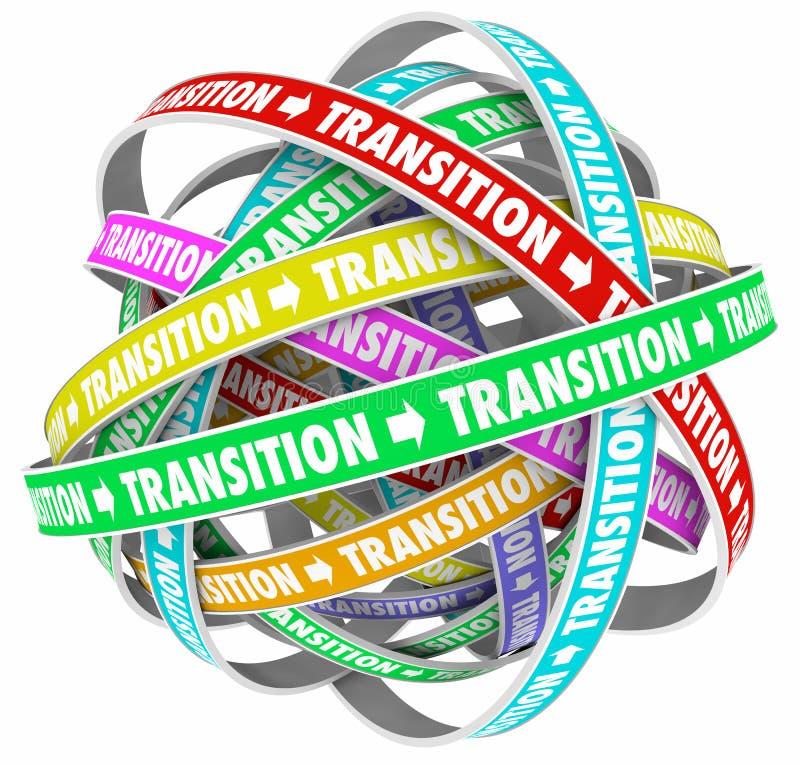 Übergangs-Änderungs-Prozess-Entwicklung fasst Schleifen ab lizenzfreie abbildung