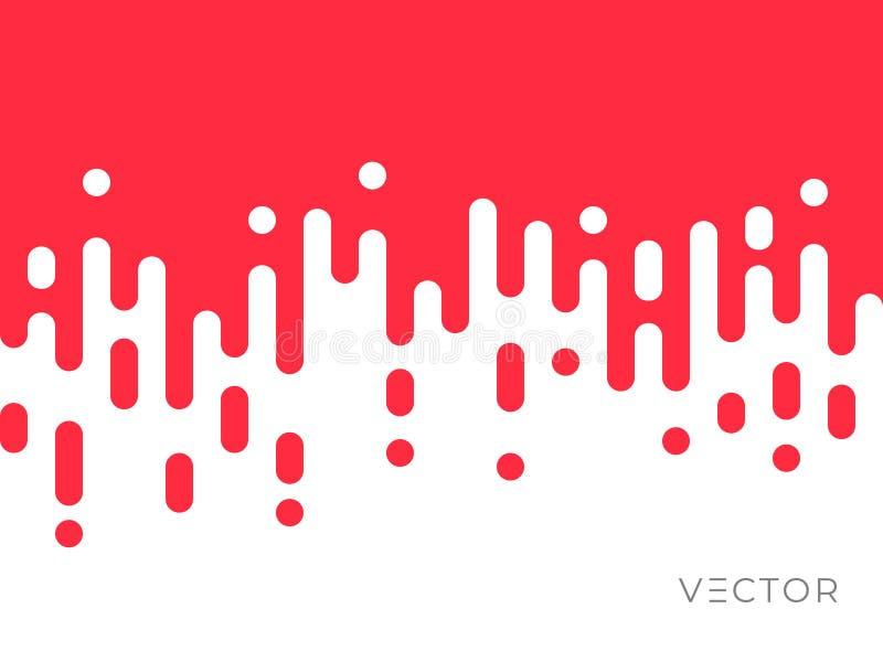 Übergangslinie Musterhintergrund, unregelmäßiges geometrisches kreatives digitales Grafikdesign der Zusammenfassung Rote weiße Fa stock abbildung