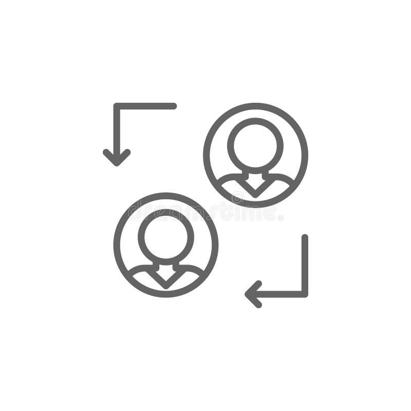 Übergangsmannentwurfsikone Elemente der Gesch?ftsillustrationslinie Ikone Zeichen und Symbole k?nnen f?r Netz, Logo, mobiler App  lizenzfreie abbildung