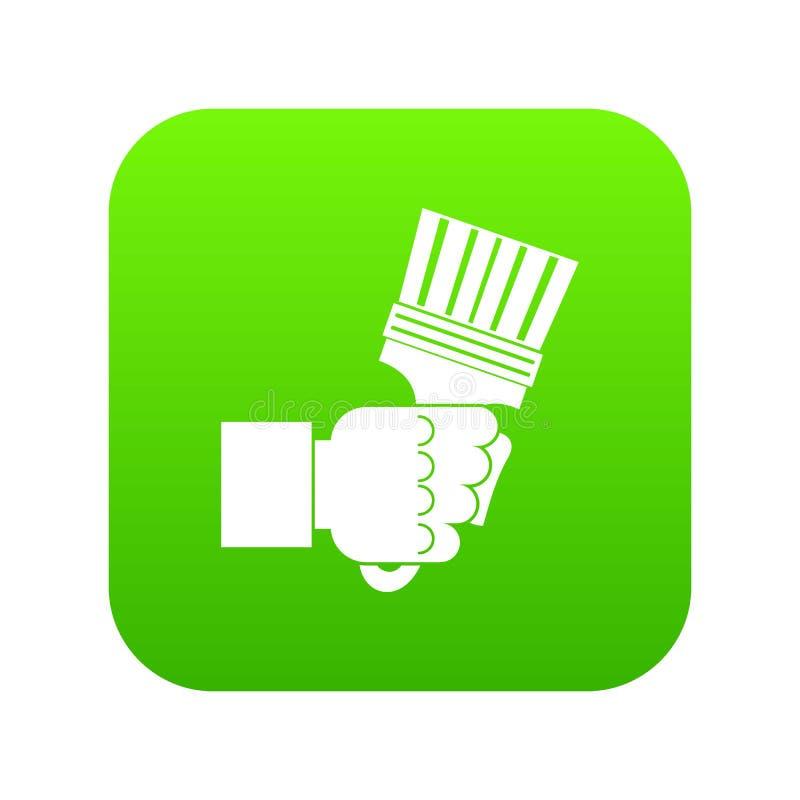Übergeben Sie das Halten von Zangen mit digitalem Grün der Griffikone lizenzfreie abbildung