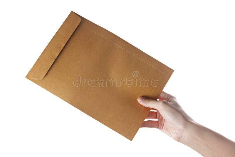 Übergeben Sie Dokument stockbilder