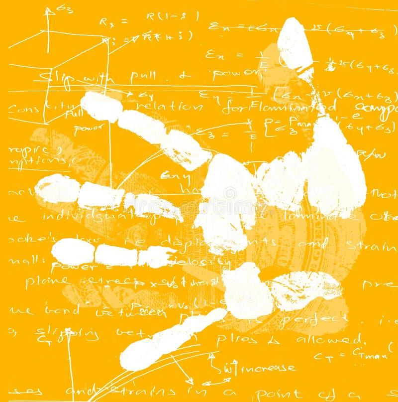 Übergeben Sie Druck mit Mathematik vektor abbildung