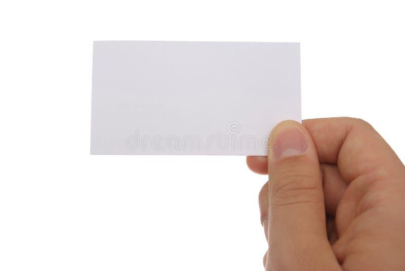 Übergeben Sie ein businesscard stockfoto