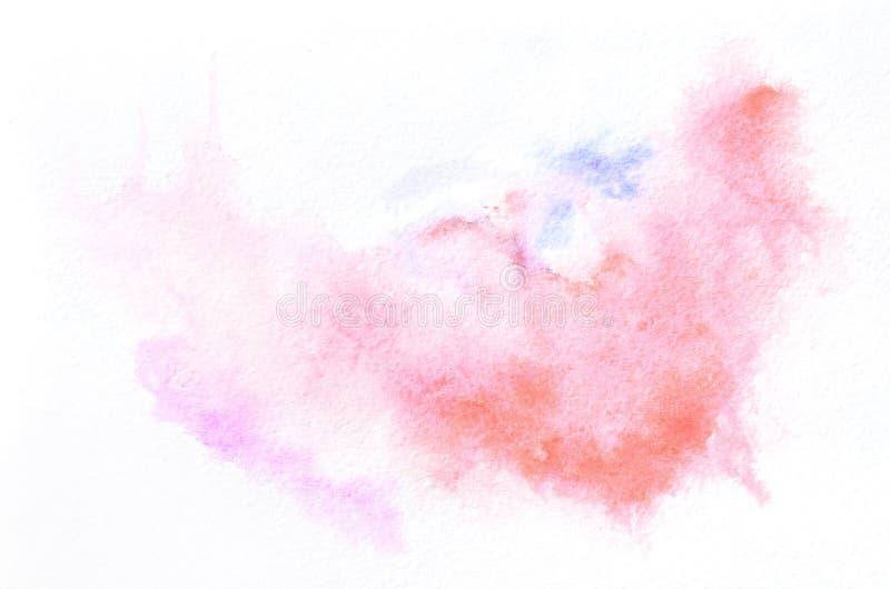 Übergeben Sie gezogene Aquarellform in Mischtönen für Ihr Design Kreativer gemalter Hintergrund, handgemachte Dekoration lizenzfreies stockbild