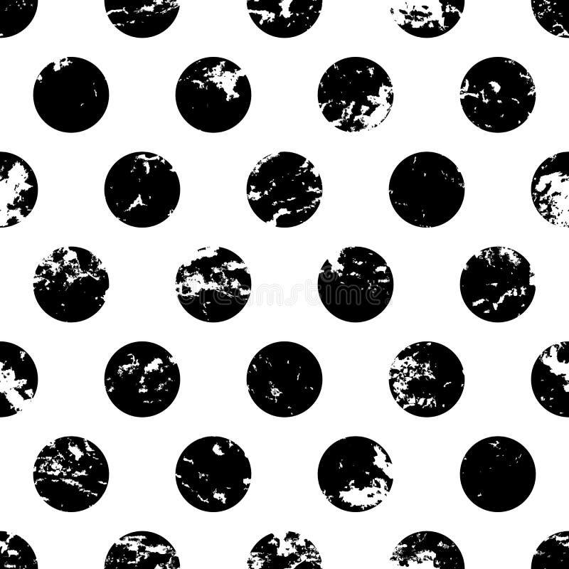 Übergeben Sie gezogenem Vektortupfen-Verzierungsschmutz nahtloses Muster AB lizenzfreie abbildung