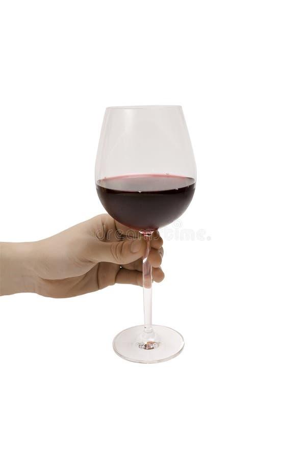 Übergeben Sie Holding Wein stockbild