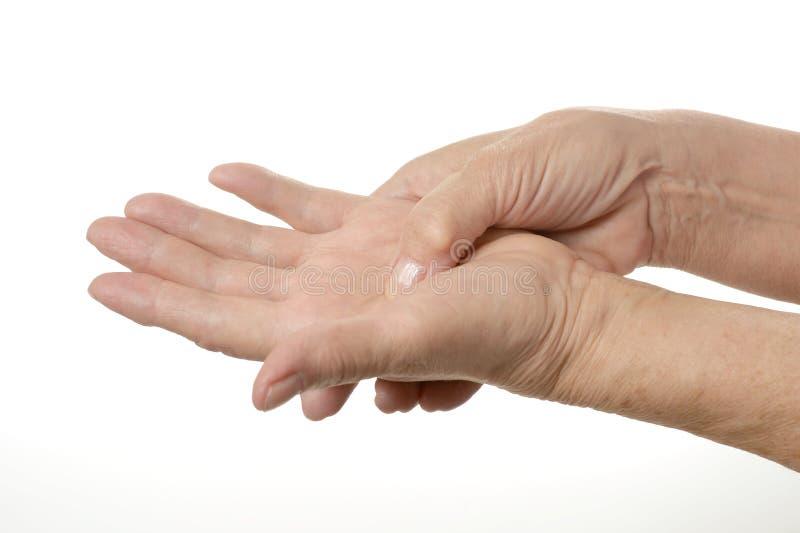 Übergeben Sie Massage lizenzfreies stockbild
