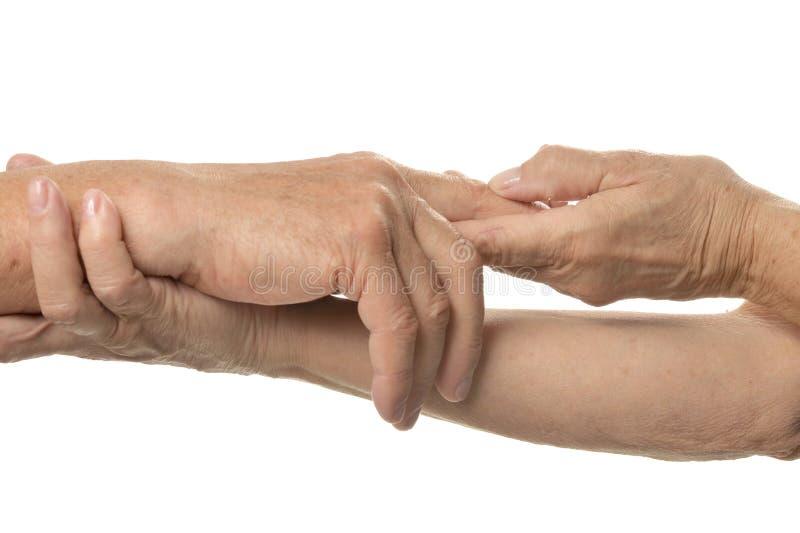 Übergeben Sie Massage stockfoto