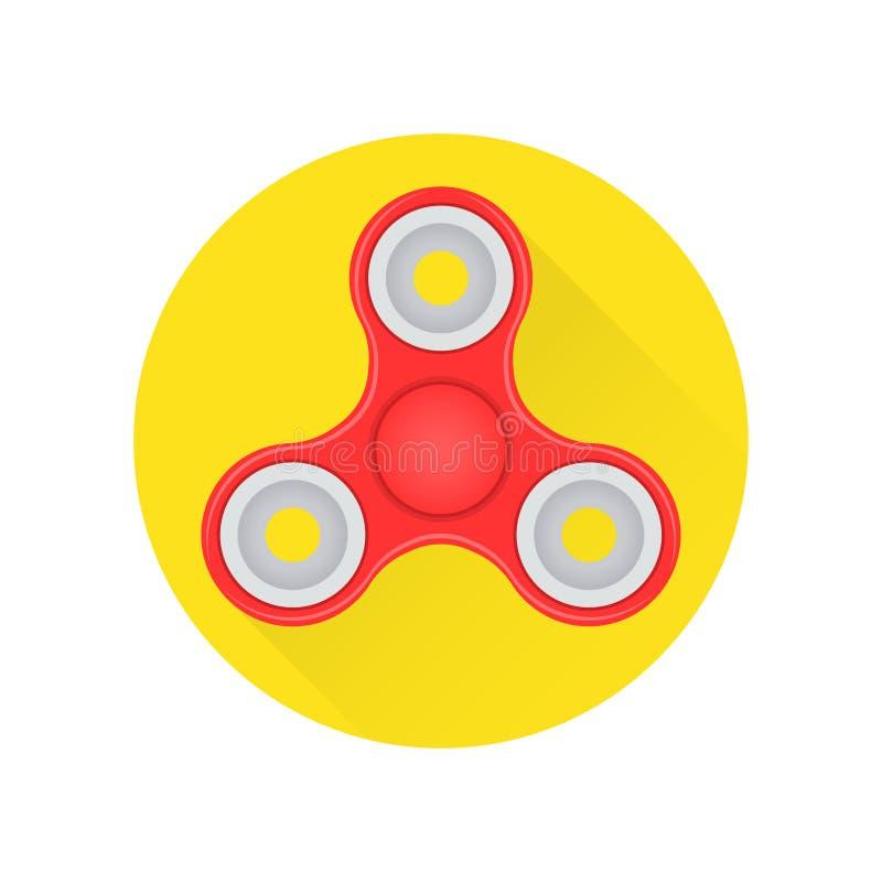 Übergeben Sie Unruhespinnerspielzeug flache Ikone auf dem weißen Hintergrund vektor abbildung