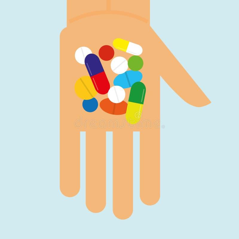Übergebung unserer Drogen lizenzfreie abbildung