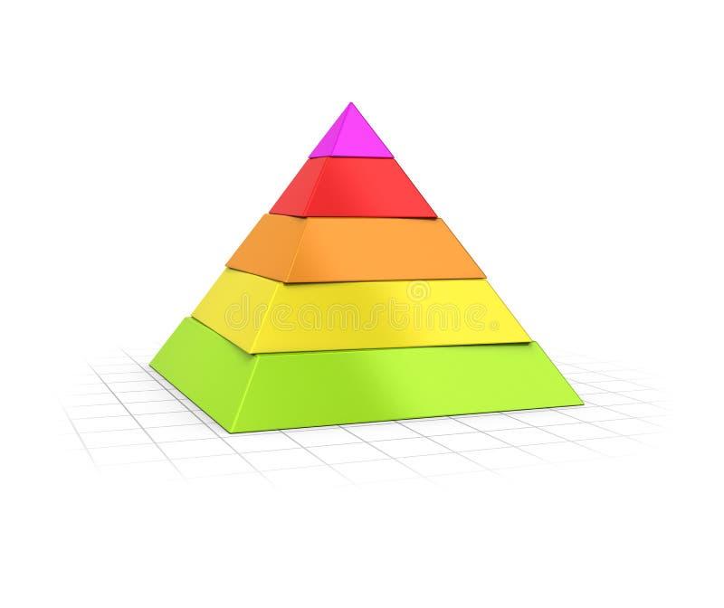 Überlagerte Niveaus der Pyramiden-fünf vektor abbildung