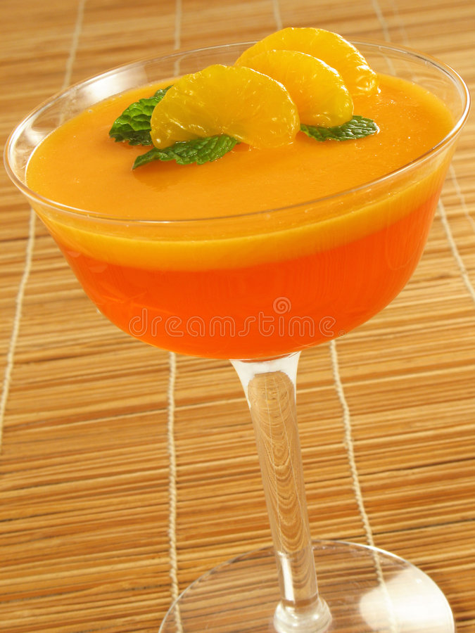 Überlagerte orange Gelatine stockbild