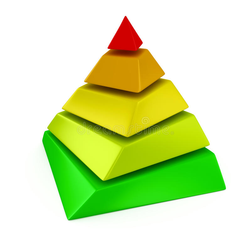Überlagerte Pyramide stock abbildung