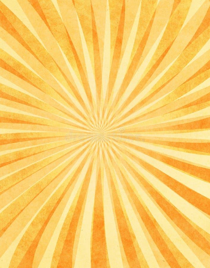 Überlagerte Sunbeams auf Papier lizenzfreie abbildung