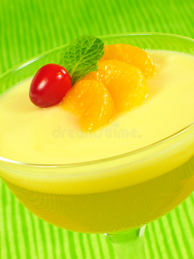 Überlagerte Zitrone-Gelatine stockbild