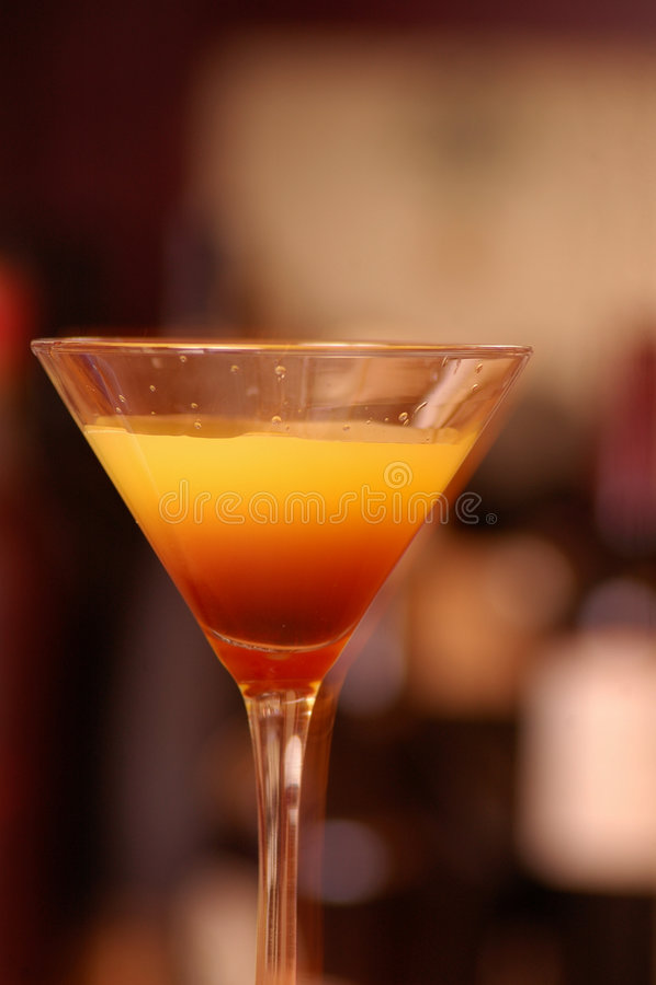 Überlagertes Cocktail stockfotografie