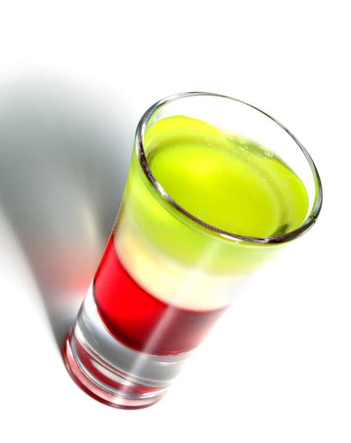 Überlagertes Cocktail mit Wermut stockbild