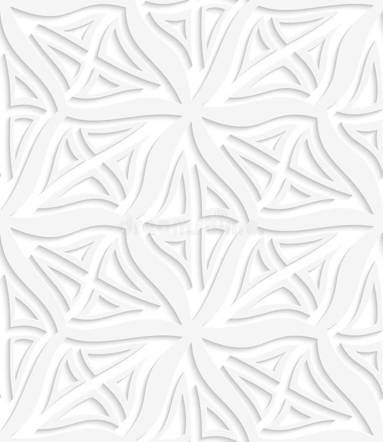 Überlagertes nahtloses der Rauten Weiß stock abbildung