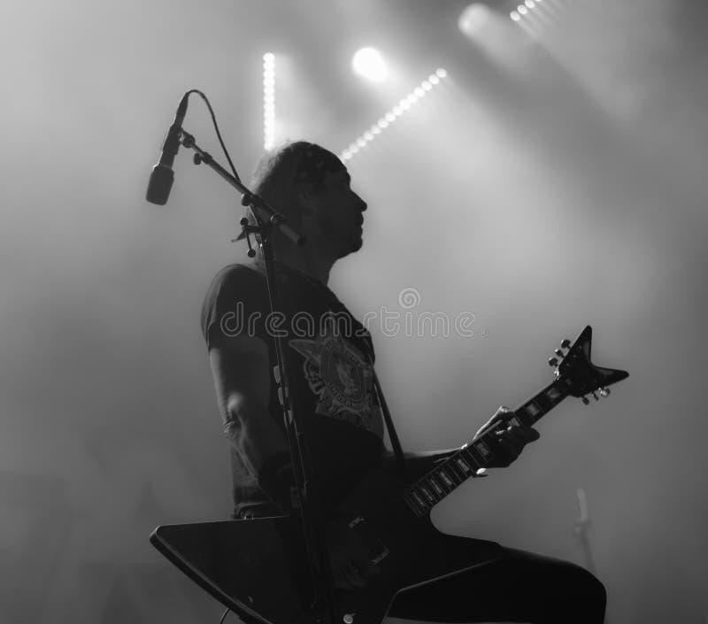 Übermaßmetallband-Livekonzert Hellfest 2016 lizenzfreie stockbilder