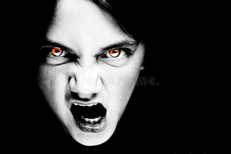Übernatürliches furchtsames Gesicht stockbilder