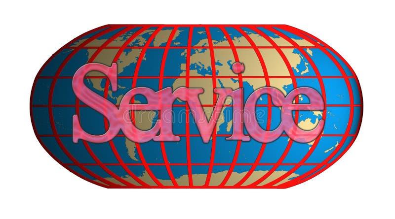 Übernationaler Service vektor abbildung