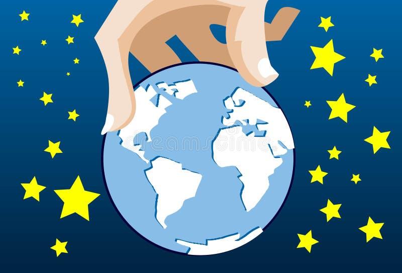 Übernehmen Sie die Welt lizenzfreie abbildung
