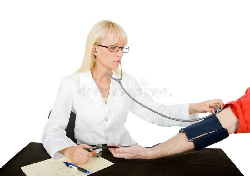 Überprüfen Sie Blutdruck stockfotografie