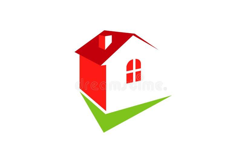 Überprüfen Sie Haupt-Logo Design Illustration vektor abbildung