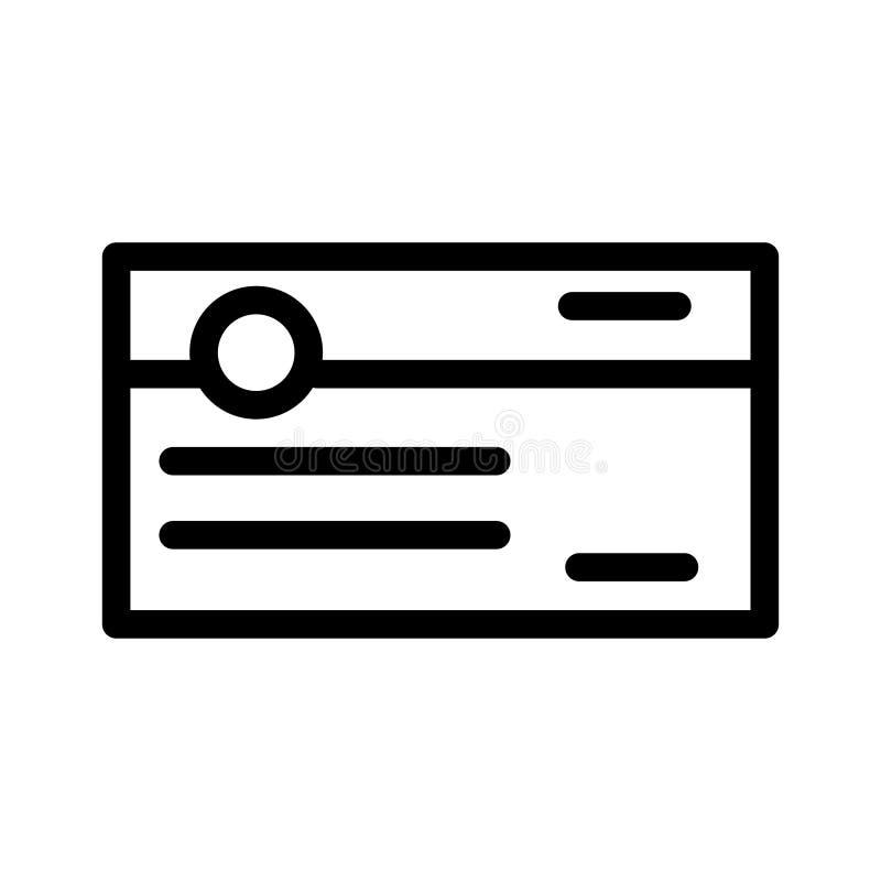 Überprüfen Sie Ikone vektor abbildung