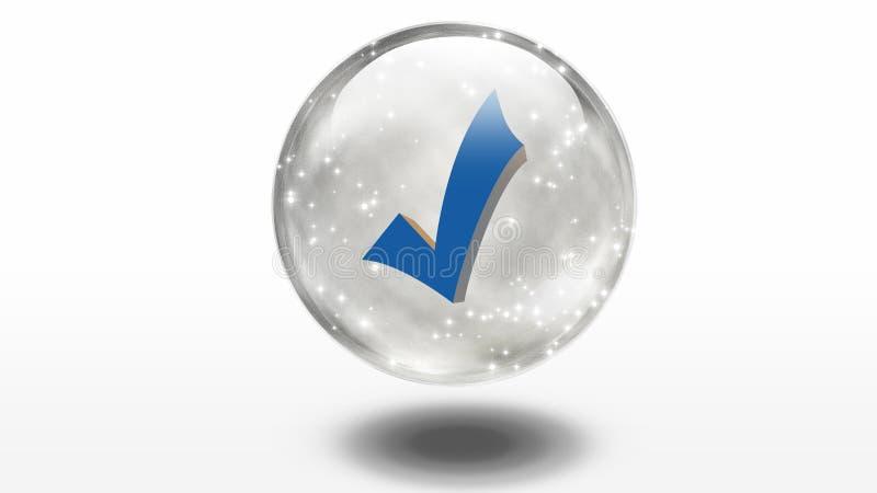 Überprüfen Sie Inneren Glasbereich Lizenzfreies Stockfoto
